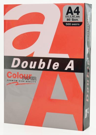 Hartie color pentru copiator A4, 80g/mp, 25coli/top, Double A - rosu intens