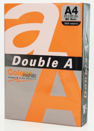 Hartie color pentru copiator A4, 80g/mp, 25coli/top, Double A - saffron intens
