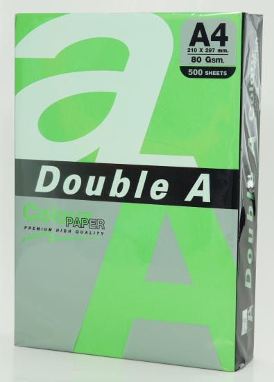 Hartie color pentru copiator A4, 80g/mp, 100coli/top, Double A - parrot intens