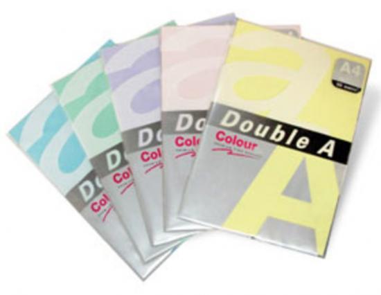 Hartie color pentru copiator A4, 75g/mp, 100coli/top, Double A - galben neon