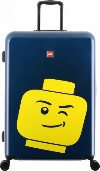 Troller 20 inch, material ABS, LEGO Minifigure Head - bleumarin