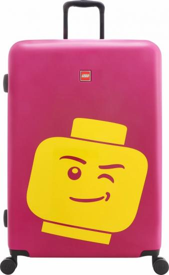 Troller 20 inch, material ABS, LEGO Minifigure Head - roz