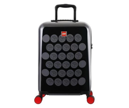Troller 28 inch, material ABS, LEGO Brick Dots - negru cu puncte gri