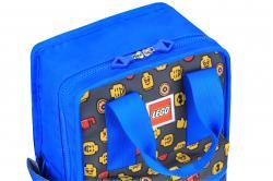 Rucsac Casual LEGO Tribini Fun Small - design Heads and Cup - albastru