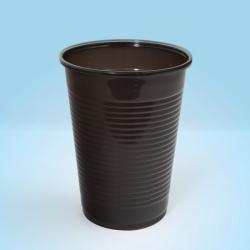 Pahare din plastic, 200ml, 100buc/set, Office Products - maro