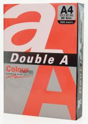 Hartie color pentru copiator A4, 80g/mp, 25coli/top, Double A - rosu intens