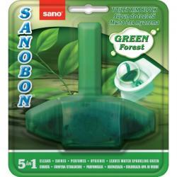 Odorizant solid pt. vasul toaletei, curata si coloreaza apa, 1000 utilizari, SANO Bon - verde