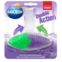 Odorizant solid pentru vasul toaletei, 55gr.,SANO Bon Double Action - lavanda