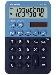 Calculator de buzunar, 8 digits, 120 x 76 x 23 mm, dual power, SHARP EL-760R-BL -albastru/bleumarin