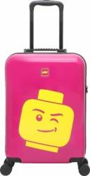 Troller 28 inch, material ABS, LEGO Minifigure Head - roz