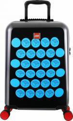 Troller 20 inch, material ABS, LEGO Brick Dots - negru cu puncte albastre