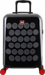 Troller 20 inch, material ABS, LEGO Brick Dots - negru cu puncte gri